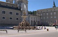Der Salzburger Residenzplatz