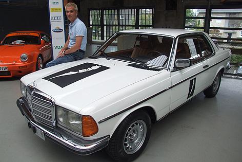 Falcos Mercedes mit jetzigem Besitzer