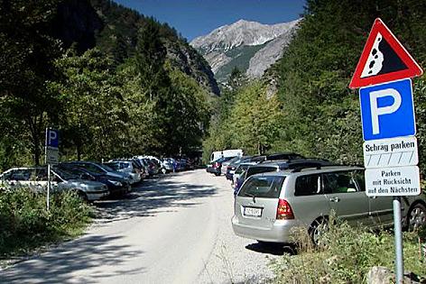 Halltal Parkplatz