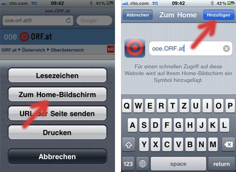 Installation von ooe.ORF.at auf einem Smartphone (mit Screenshots)