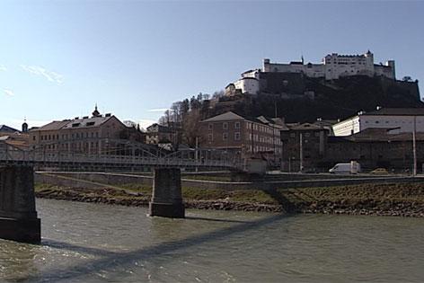 Mozartsteg in der Stadt Salzburg