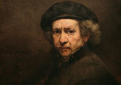 Selbstportrait des Barock-Malers Rembrandt.
