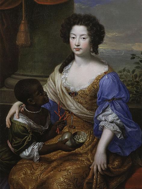 Louise de Kerouaille, Duchess of Portsmouth (mit Diener), 1682 Pierre Mignard