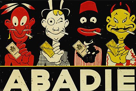 """Werbeschild für """"Abadie"""", um 1920"""