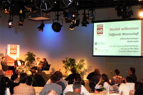 Treffpunkt Wissenschaft im Publikumsstudio des ORF Oberösterreich