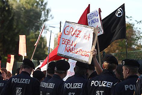 Sarrazin-Auftritt in Graz, Proteste