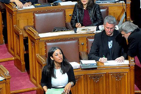 Vassilakou im Gemeinderat
