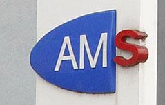 Schild des Arbeitsmarktservice (AMS)