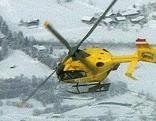 Notarzthubschrauber im winterlichen Einsatz.