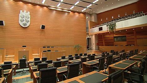 Leerer Landtagssaal