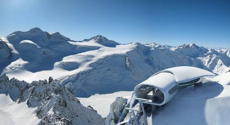 Visualisierung der Bergstation mit Wildspitze