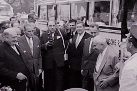Chruschtschov besucht Figl