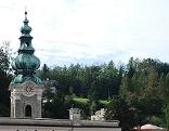 Kirchturm des Klosters St. Peter in der Salzburger Altstadt