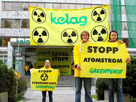Kelag Greenpeace Atomstrom