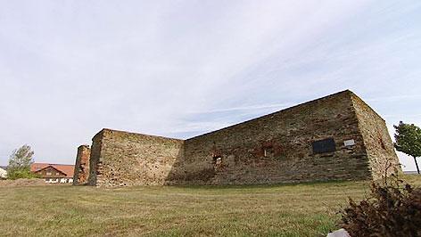 Der so genannte Kreuzstadl in Rechnitz