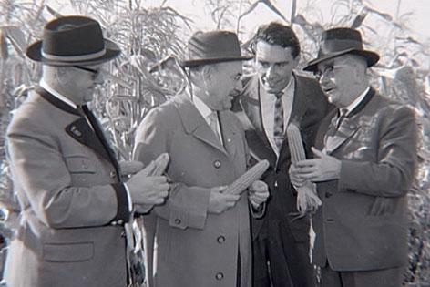 Figl Chruschtschov bei der Ernteüberprüfung