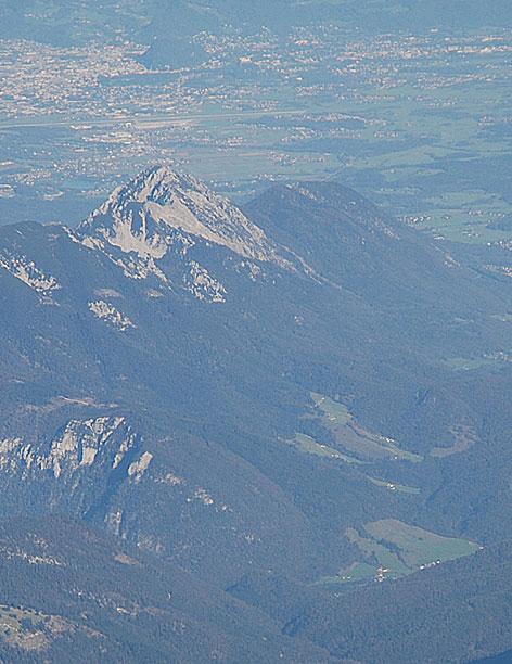 Stadt Salzburg mit Hochstaufen bei Bad Reichenhall