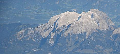 Hoher Göll aus 6.000 Metern Höhe