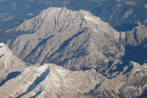Watzmann Westwand aus 6.000 Metern