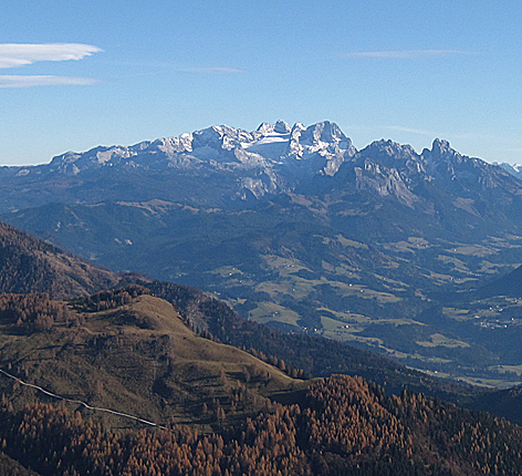 Dachstein und Bischofsmütze und Gosaukamm