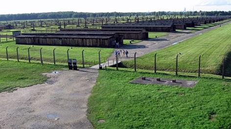 Lagergelände im KZ Auschwitz-Birkenau