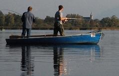 Fischer auf dem Waginger See