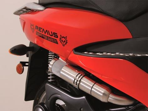 "Motorrad mit ""Sound for Safety""-System"