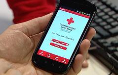 Erste Hilfe Applikation des Roten Kreuz