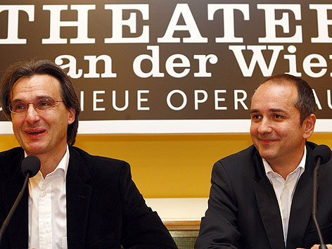 Roland Geyer (li) und Thomas Drozda im April 2008