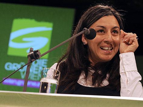 Maria Vassilakou bei der Landesversammlung der Wiener Grünen