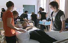 Unterricht in einer Klasse der Krankenpflegeschule