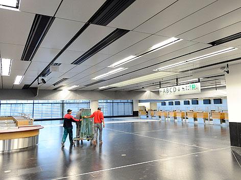 Skylink-Baustelle am Flughafen Wien-Schwechat