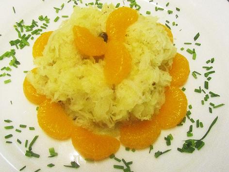 Sauerkraut mit Mandarinen