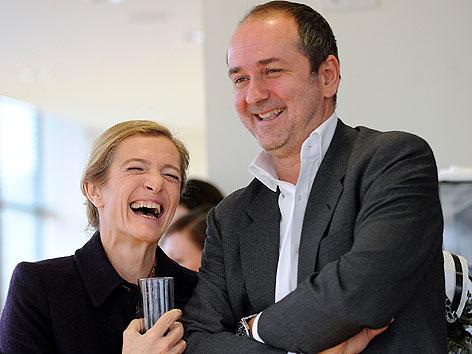 Kathrin Zechner und Thomas Drozda bei Pressekonferenz der Vereinigten Bühnen Wien