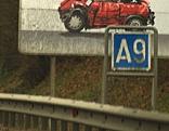"Autobahnschild ""A9"""