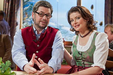Caroline Koller und der Rauriser Dorfschreiber Walter Müller