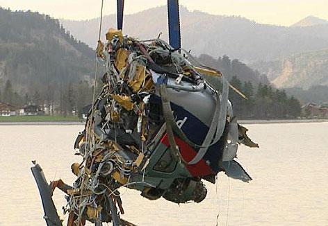 Hubschrauberabsturz in Achensee
