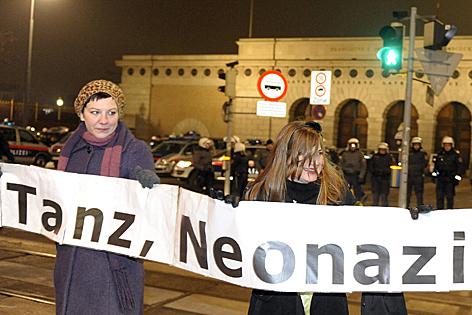 Demonstration gegen den Ball des Wiener Korporationsringes