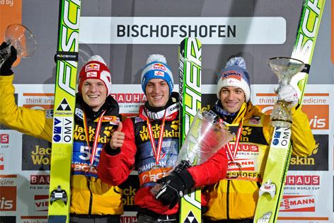 Gregor Schlierenzauer gewinnt die 60. Vierschanzentournee in Bischofshofen.