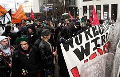 Demo gegen FPÖ und Strache in Salzburg