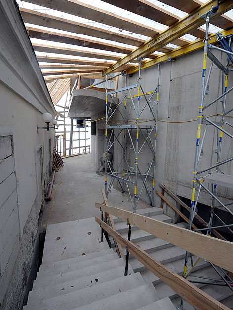 Baustelle des Konzertsaals der Wiener Sängerknaben am Augartenspitz
