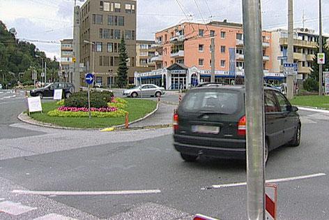 Die Eder-Kreuzung in Salzburg-Parsch