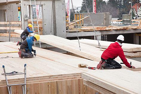 "Bauarbeiten ""Holz-Zinshaus"" Wagramerstraße"