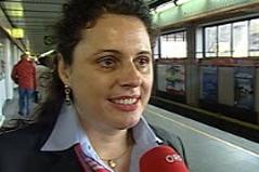 Erste U-Bahnfahrerin Claudia Polaschek
