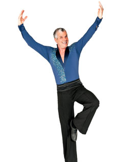 Wolfram Pirchner im Tanzdress.