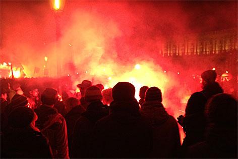 Kundgebung auf Heldenplatz