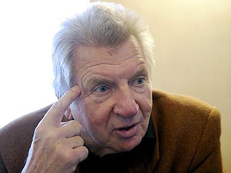 Werner Schneyder im Jänner 2012 anläßlich eines APA-Interviews zu seinem 75. Geburtstag