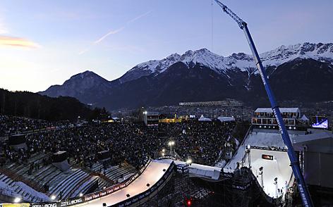 Blick auf das Bergisel Stadion