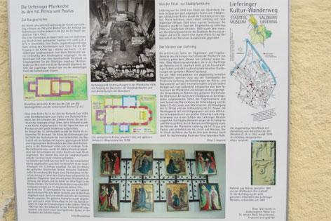Kulturwanderweg Liefering, Kirche Liefering, Schautafeln