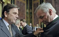 Franz Voves und Hermann Schützenhöfer im Parlament